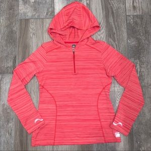REI Orange Hooded Long Sleeve Active Top S